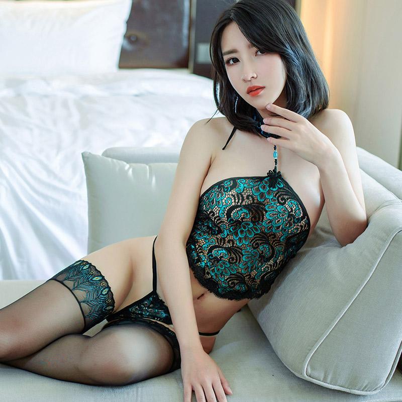 霏慕夫妻性感情趣内衣激情用品套装蕾丝三点式衣服肚兜制服女7856