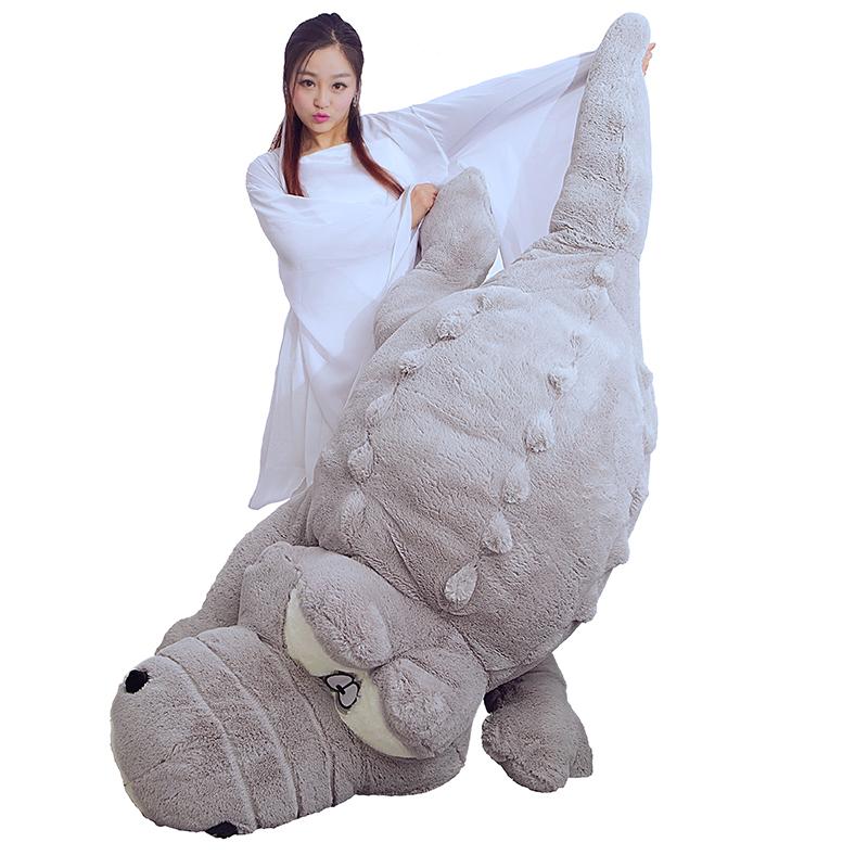 大號鱷魚公仔毛絨玩具河馬抱枕玩偶布娃娃靠墊情人節生日 女生