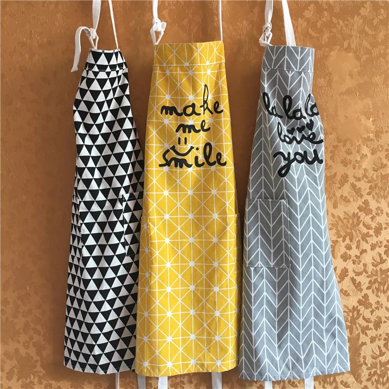Нордический ветер льняная ткань фартук кухня домой чистый защищать мужской одежды женщина сделать рис хлопок окружать талия хлеб магазин работа одежда