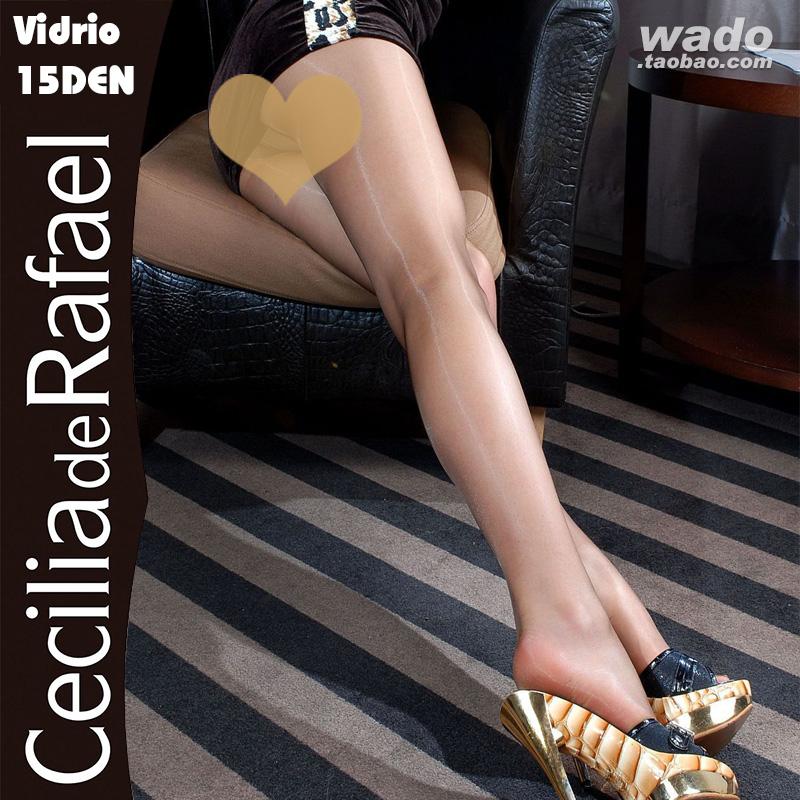 西班牙CdR Vidrio 15D丝滑缎感珠光油亮T裆连裤脚尖加固进口丝袜