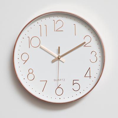 【天天特价】挂钟客厅现代简约静音时尚创意卧室石英钟表圆形时钟