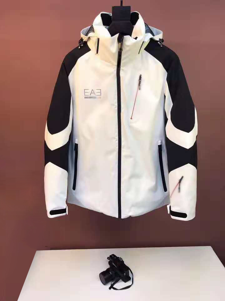 2019 winter new sports thickened windproof medium and long submachine jacket, ski down jacket, color matching jacket for men and women