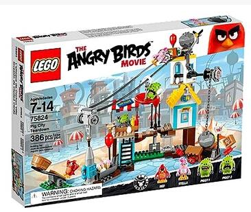 正品乐高 LEGO 75824 愤怒的小鸟大电影 猪城毁灭