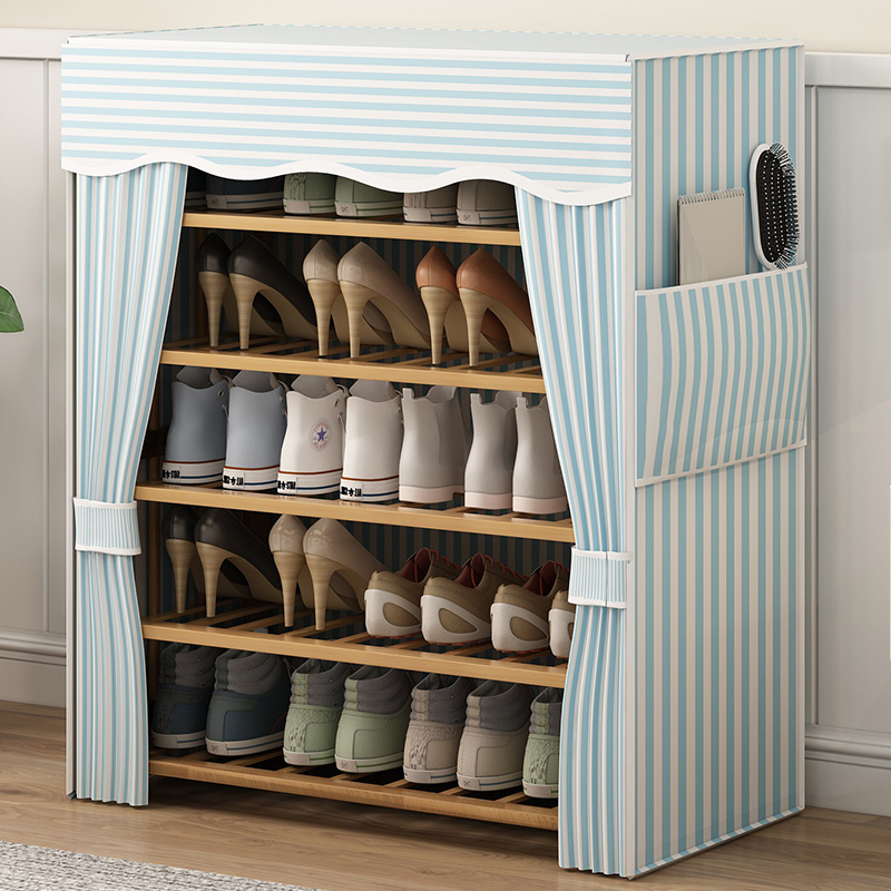 正品保证鞋架简易门口多层防尘带布套鞋架子家用经济型宿舍置物架收纳神器