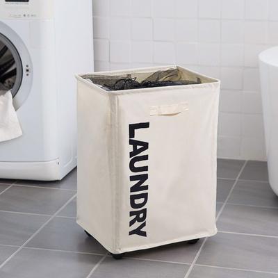 牛津布脏衣篮衣物收纳筐大号折叠收纳篮 浴室带轮子洗衣篮脏衣篓