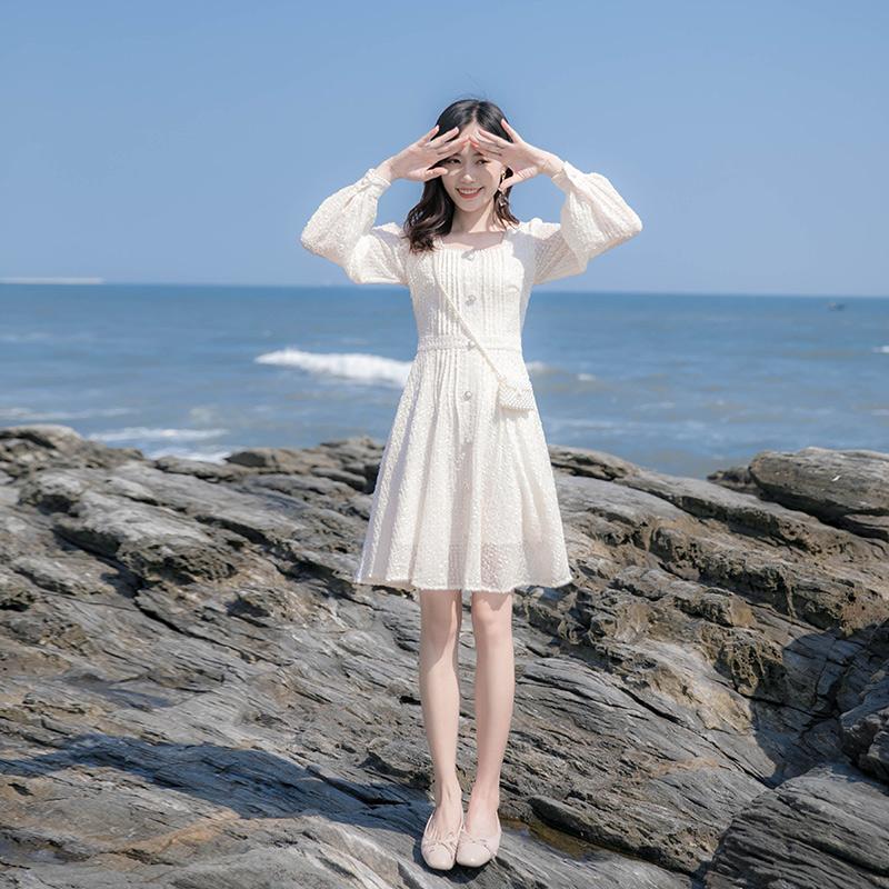 很仙的法式小众连衣裙2020春款短裙
