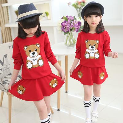 童装女童秋装2018新款韩版运动裙子