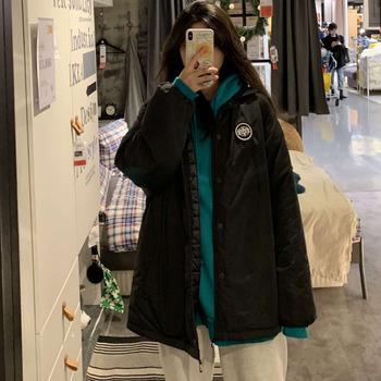 黑色棉服女韩版宽松加厚2019教练夹克潮冬棉衣ins超火外套面包服