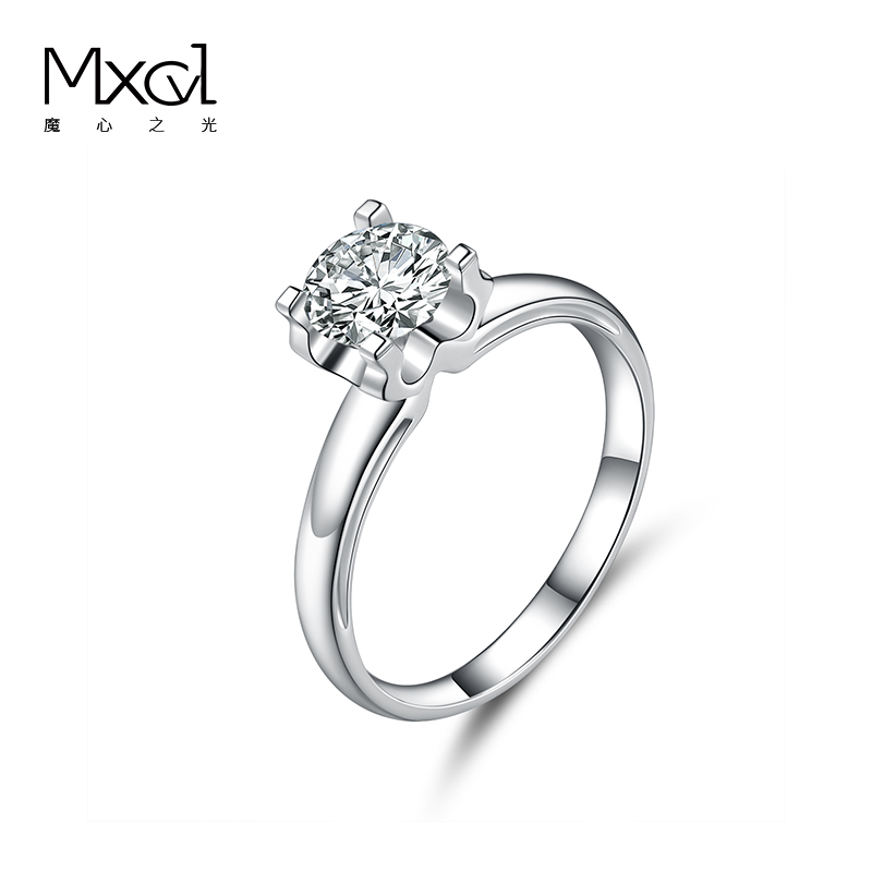 18K platinum pt950 laboratory cultivate diamond ring female marriage proposal diamond ring (ring holder only) luxury10