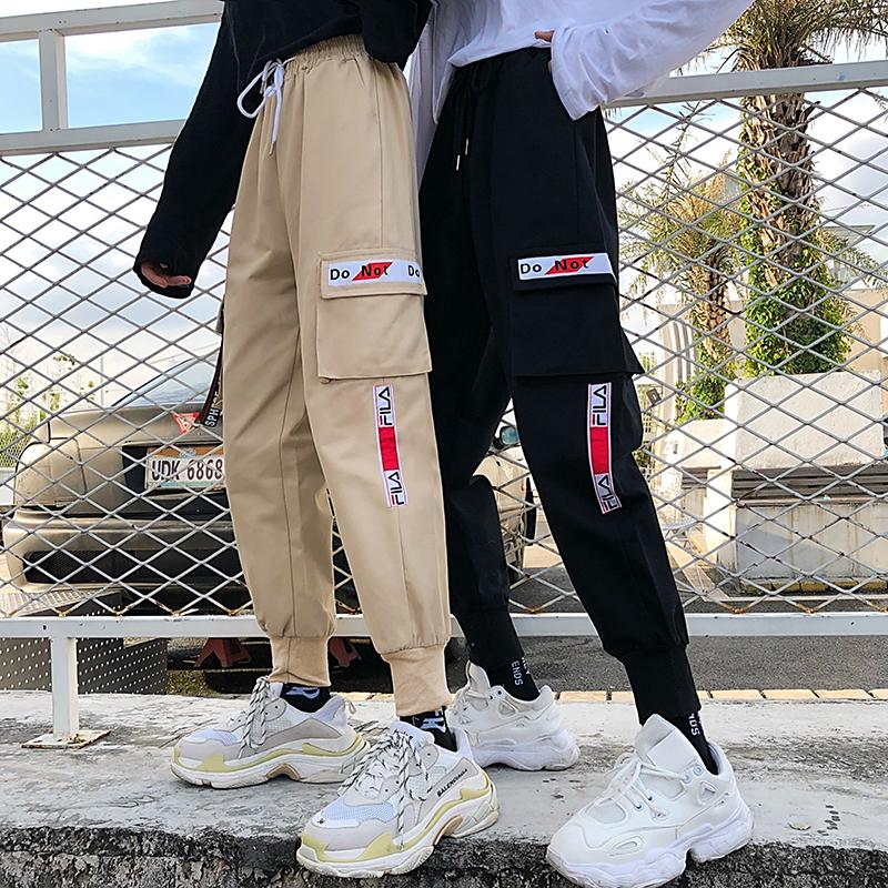 2019新款速干裤女夏季薄款国潮工装裤束脚显瘦酷帅气哈伦裤宽松bf(非品牌)