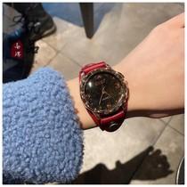 新品个姓复古时尚牛皮手表学生情侣国产石英腕表潮流真皮带