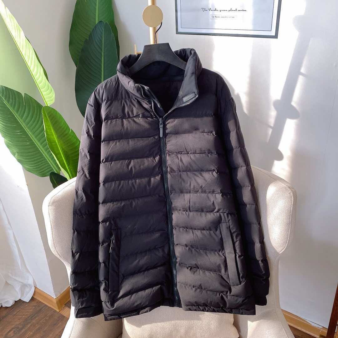 102418羽绒棉衣男装2019冬季新款青少年双面穿加厚棉服潮连帽外套