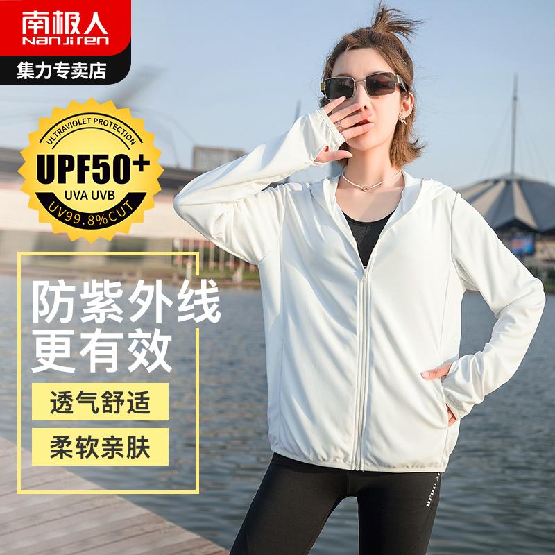冰丝防晒衣女2020夏新款长袖宽松防紫外线透气薄短款外套防晒服衫图片