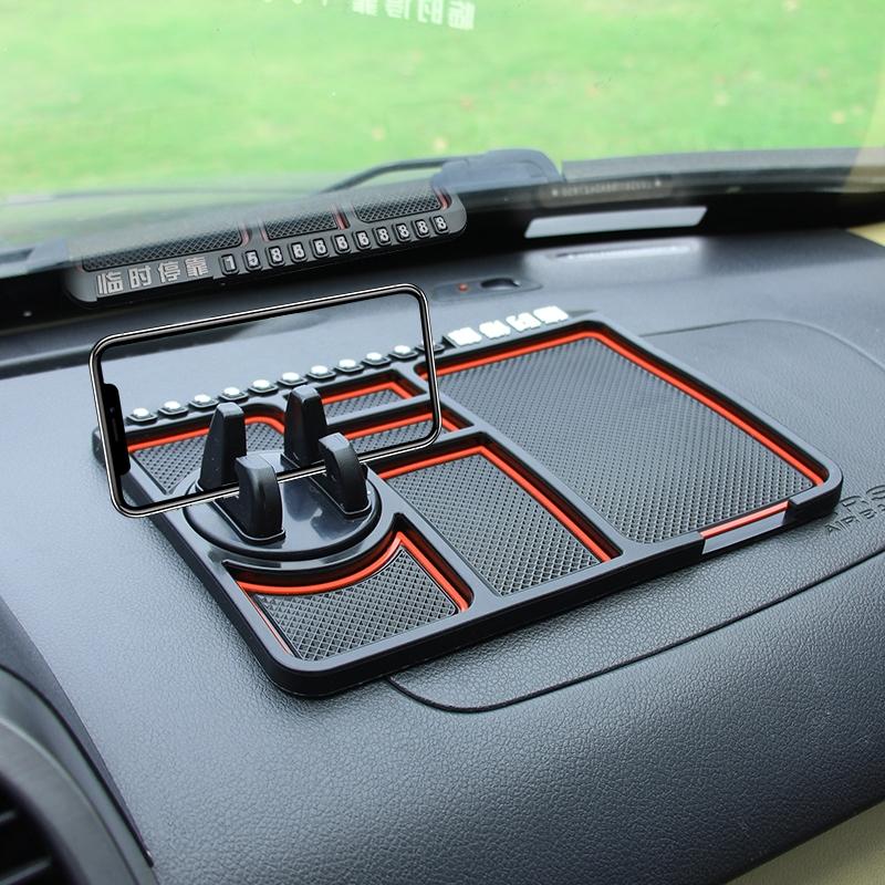 汽车防滑垫车用多功能仪表台工作台车载手机置物垫车内中控台垫子