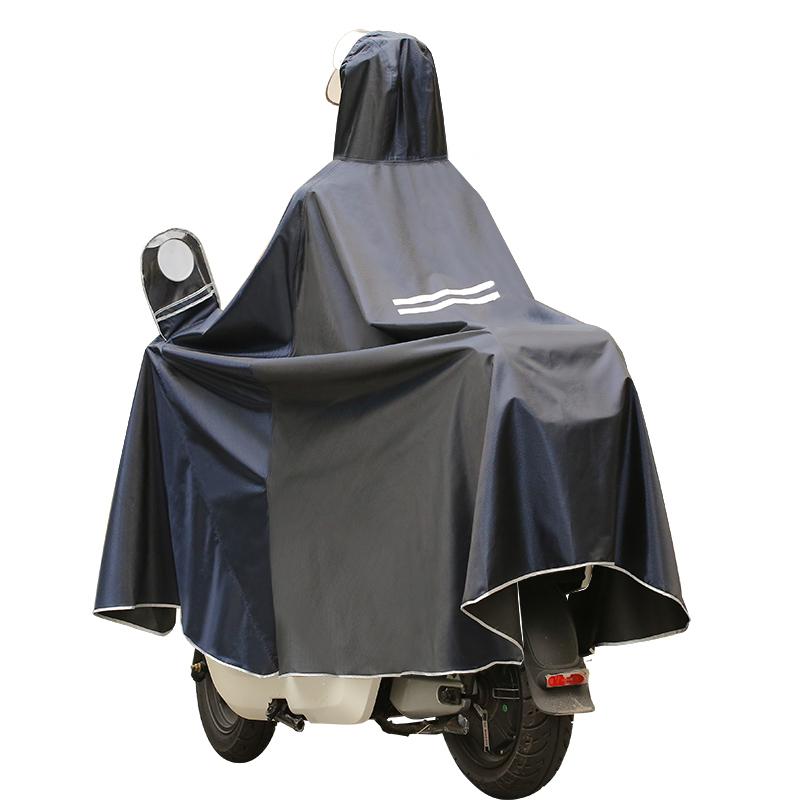 摩托电动电瓶车雨衣长款全身防水单人双人加大加厚男女防暴雨雨披