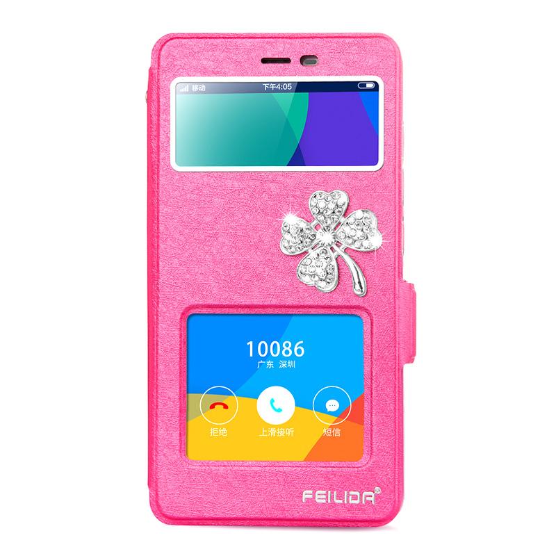菲利達 紅米note3手機殼 小米軟矽膠翻蓋式保護套防摔可愛潮女鑽