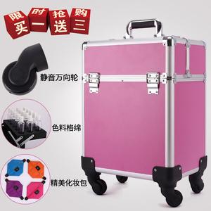 專業拉桿化妝箱手提大容量跟妝美甲紋繡美發美容半永久多層工具箱