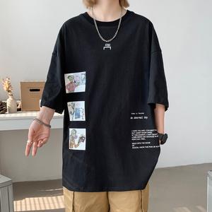 夏季纯棉短袖T恤新款韩版原创宽松卡通男情侣装上衣TX818-P25,男装T恤,A111A