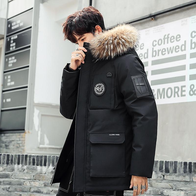 福美邦一町了魂原创男装初的川男装设计店铺2019冬季工装迷彩羽绒
