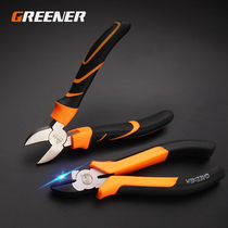 Green Slant Pliers Industrial Grade 6 inch shearing clamp deflection pliers shear wire clamp Slant nozzle pliers Electrical electronic pliers