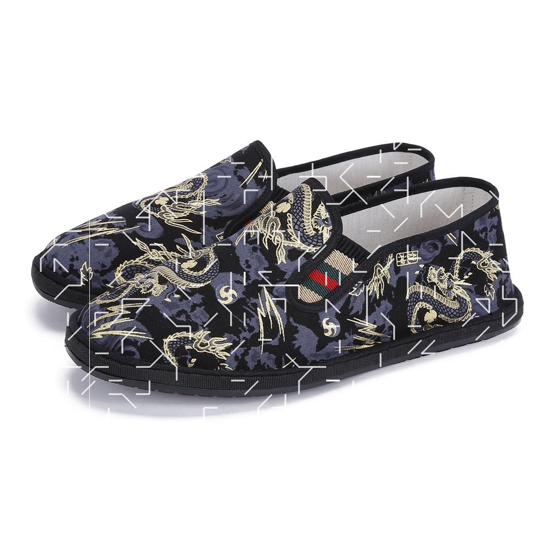中国风刺绣布鞋鞋子春秋古风小伙女帆布黑色绣花夏天男鞋花纹