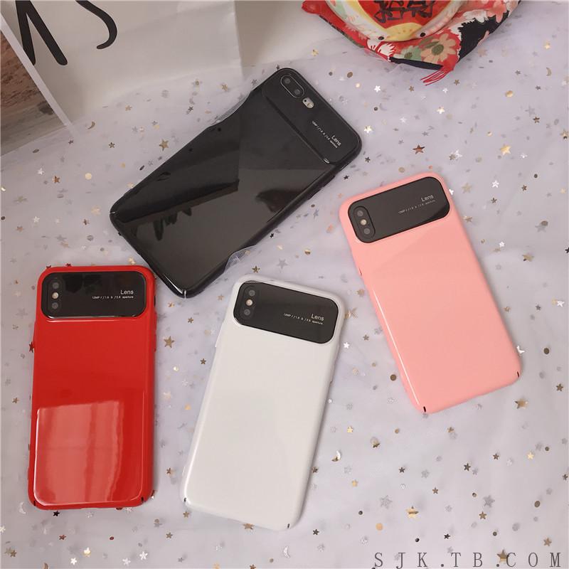 满15元可用2元优惠券创意简约纯色硬壳苹果11pro x手机壳iPhone8/7plus潮男女xr/m