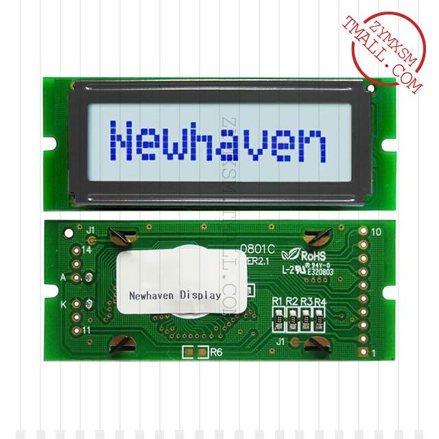 NHD-0108CZ-FSW-GBW-33V3〖LCD MOD CHAR 1X8 GRY TRANSFL STN〗