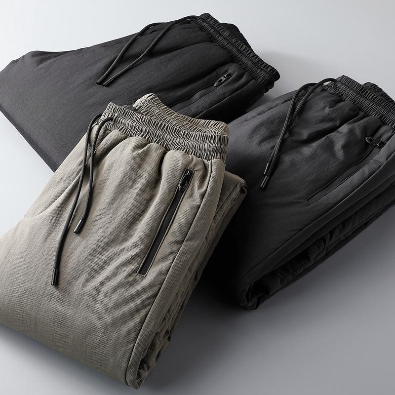 深八度御寒牛货G级白鹅绒90%蓬松锁温不臃肿修身直筒冬外穿羽绒裤