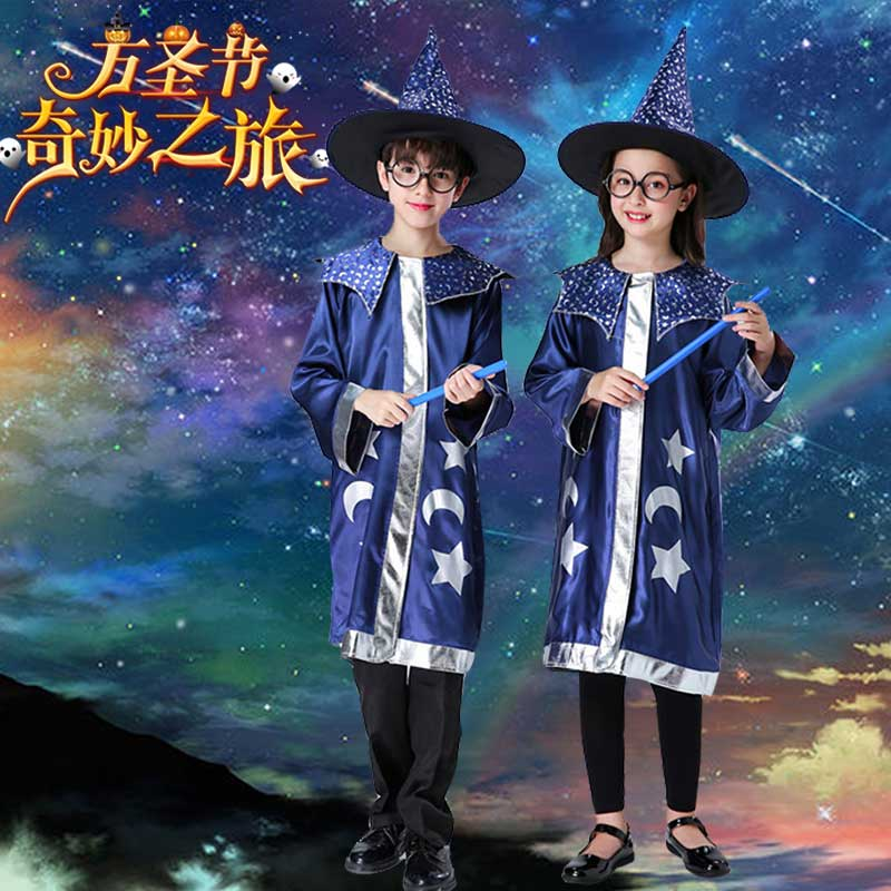 Childrens Halloween girl witch role play Harry Potter Cosplay masquerade dance Vampire Costume