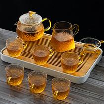玻璃茶具套装家用日式功夫红茶杯简约耐高温煮泡茶壶小套便携茶盘
