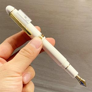 领3元券购买日本Platinum白金3776城堡白桂冠绿大型14K金笔钢笔世纪PNB-13000