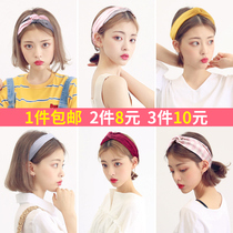 Chic Korean sweet sen female department hair with INS Cherry blossom net red face hair hoop headscarf card head Jewelry