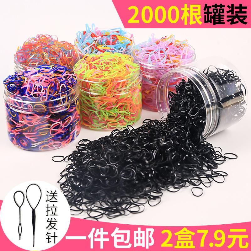 扎头发头绳橡皮筋发圈发绳小清新头饰品韩国皮筋女扎头一次性黑色图片