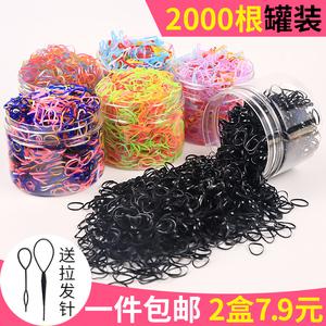 扎頭發頭繩橡皮筋發圈發繩小清新頭飾品韓國皮筋女扎頭一次性黑色