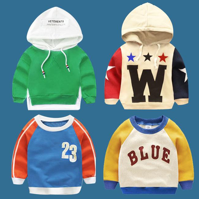 Ребенок весенний и осенний сезон. новый свитер мальчиков закрытый рукав рубашки глава одежда тонкая модель ребенок женщины с длинными рукавами чистый ребенок хлопок пальто