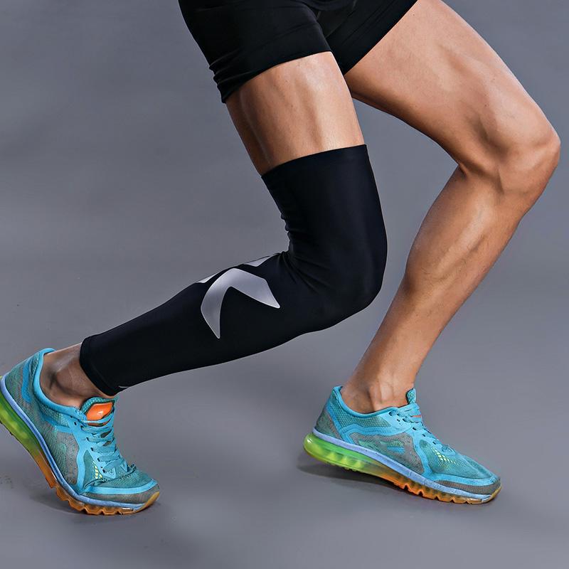 李宁护腿夏季运动薄款加长高弹力护膝羽毛球篮球跑步健身男女护具