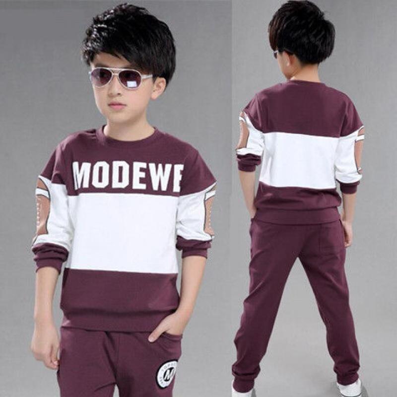9童装男童秋季卫衣套装新款中大童男孩子休闲运动两件套