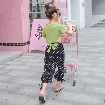 55女童套装2019新款洋气韩版阔腿裤