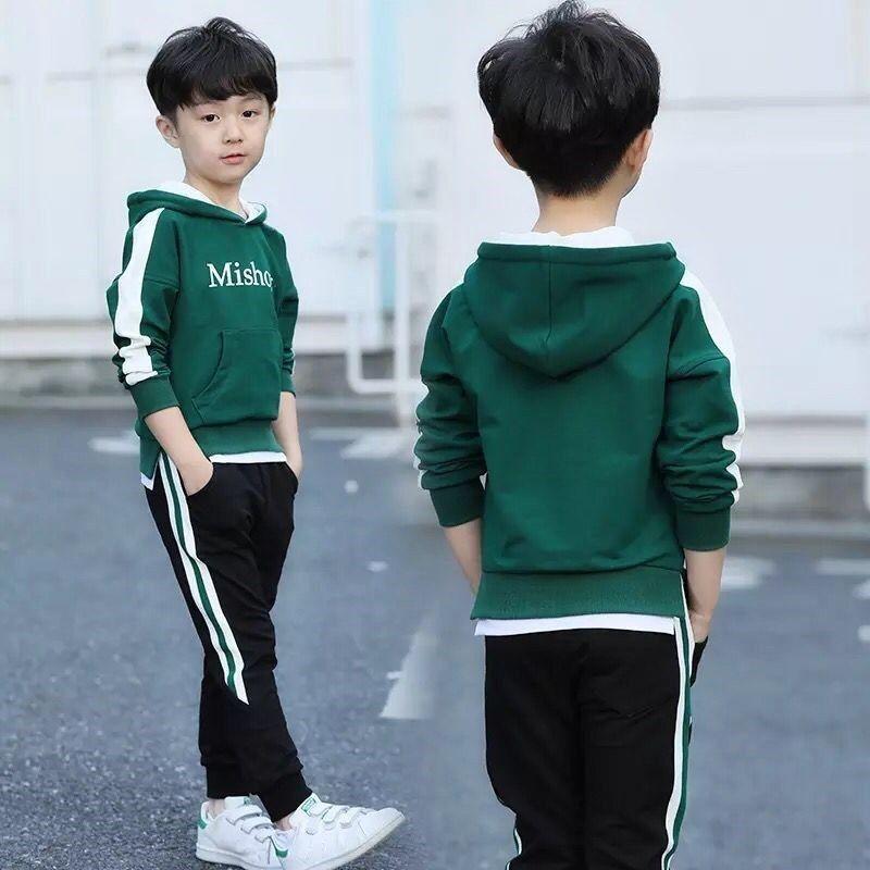 3秋季韩版男童女童休闲运动两件套装英伦风时尚小孩衣小中大童