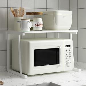 廚房微波爐架子烤箱置物架桌面臺面雙層電飯鍋分層電器支架收納架