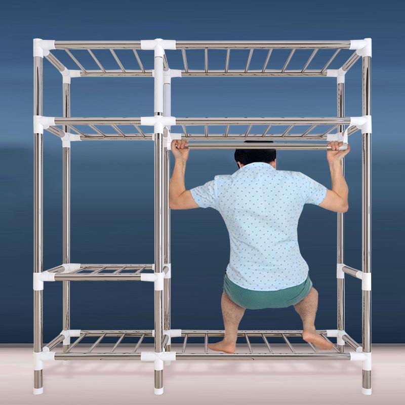 布衣柜简易衣柜钢管加粗加固加厚布艺收纳柜子衣橱简约现代家用g