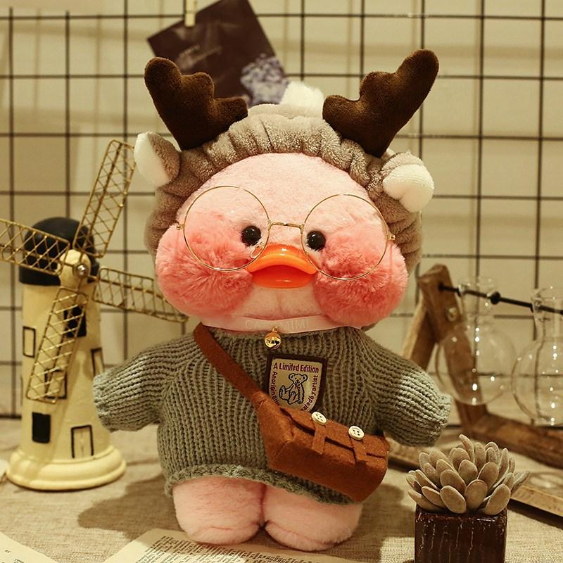 假一赔三ins网红粉色玻尿酸鸭子毛绒玩具公仔娃娃玻尿酸小黄鸭生日礼物女