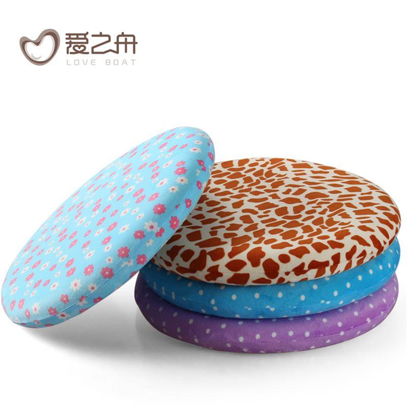 爱之舟花色椅垫办公室圆形椅子坐垫地板垫餐椅垫圆坐垫记忆棉座垫