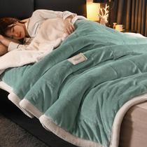 冬季毛毯被子珊瑚绒毯子加厚学生女法兰羊羔绒小铺床单人双层宿舍