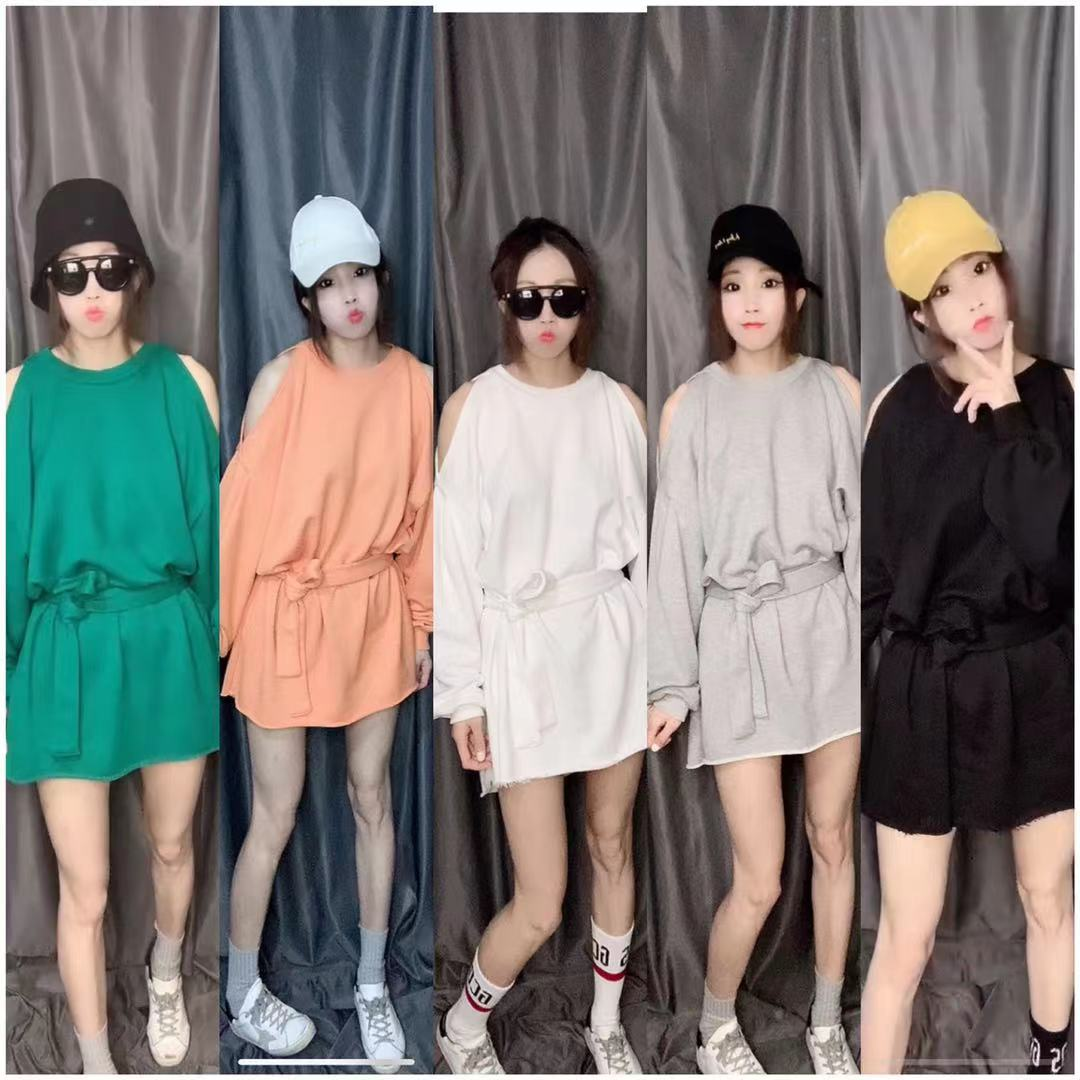 Spring new product of Ningmeng 2021 hot Korean Pullover Sweater womens mid long off shoulder loose coat