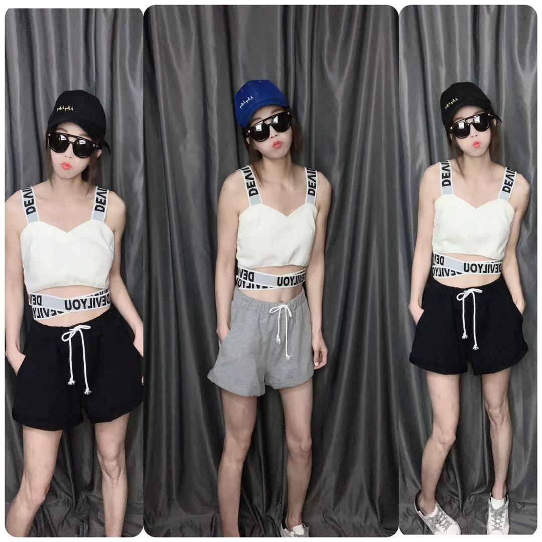 Ningmeng 2021 summer new leisure sports shorts high waist loose show thin wide leg hot pants female Han banchao