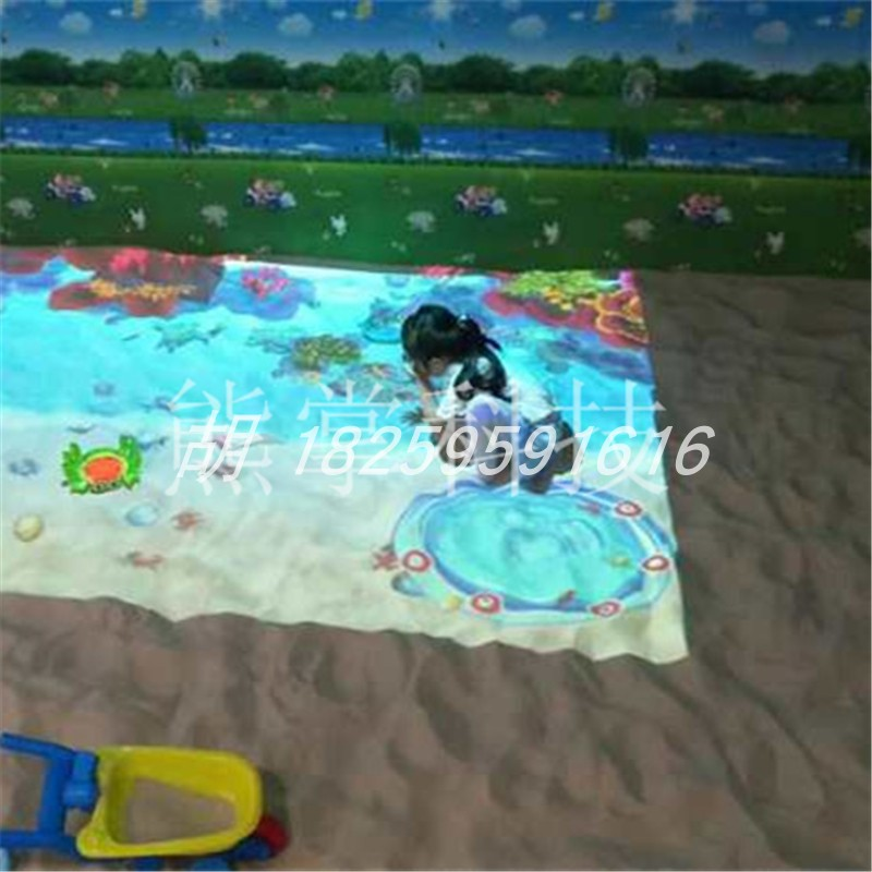 Ar interactive dream beach 3D projection equipment children fishing breakthrough game naughty castle childrens paradise manufacturer