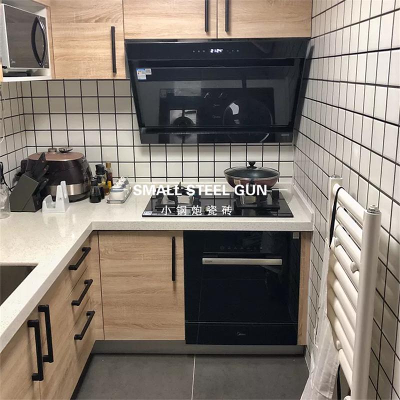 小白砖方砖北欧白色面包砖厨房卫生间瓷砖300x600洗手间厕所墙砖 Изображение 1