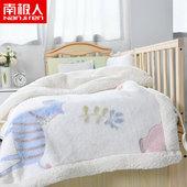 婴儿毛毯双层加厚冬季儿童盖毯被子新生宝宝幼儿园午睡毯子珊瑚绒