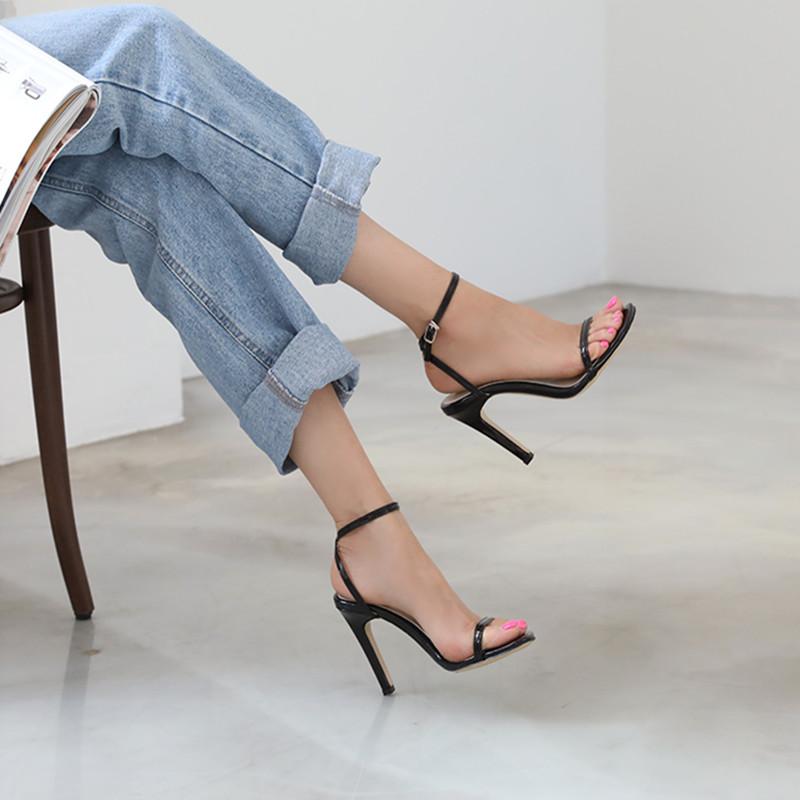 夏季凉鞋子外穿仙女风2020网红款潮鞋露趾瘦版高跟细跟小码313233